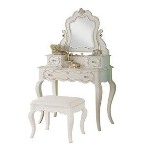 Saffold Vanity Set with Mirror by Harriet Bee