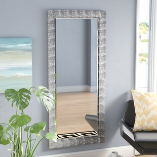 Grain Texture Modern & Contemporary Beveled Wall Mirror