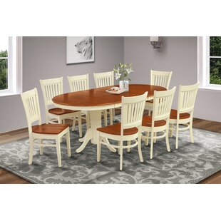 Schacht Traditional 9 Piece Extendable Solid Wood Dining Set