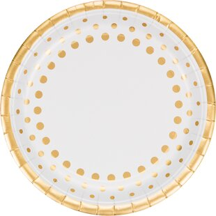 Sparkle and Shine Gold Banquet Paper Dinner Plate (Set of 24)