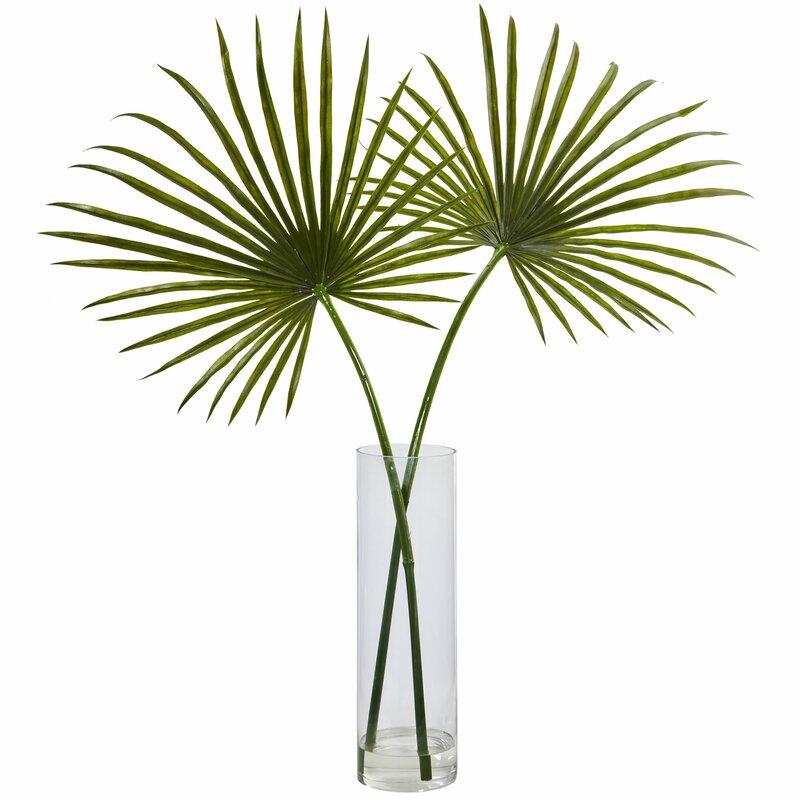Bayou Breeze Arrangement Floor Palm Plant In Decorative Vase