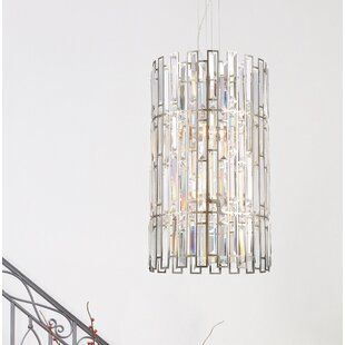 Mercer41 Sarina 6-Light Crystal Chandelier