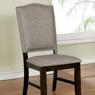 Compare prices Len Upholstered Dining Chair (Set of 2) by Canora Grey Reviews (2019) & Buyer's Guide