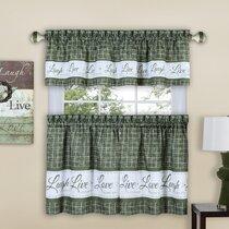Sage Green Kitchen Curtains Wayfair
