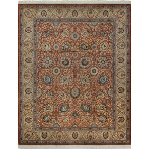 One-of-a-Kind Cleasby Hand Knotted Wool Rust Area Rug