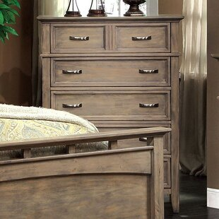 Gracie Oaks Jenkins Distressed 6 Drawer Chest