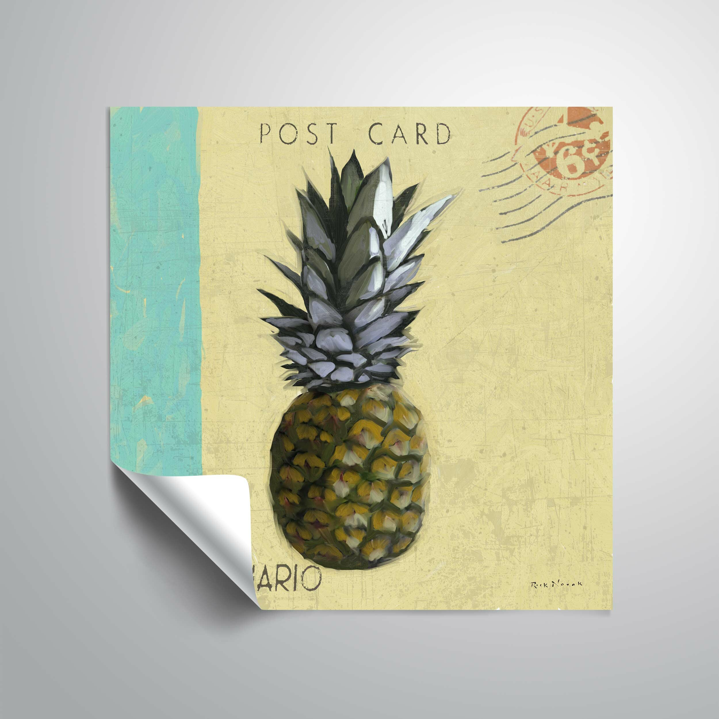 ArtWall Pineapple Wall Mural | Wayfair