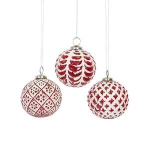 Glass Ornament Assortment Set (Set of 6)