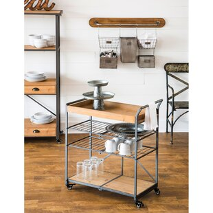 Dovenby Wooden Folding Bar Cart by Gracie Oaks