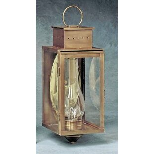 Top Reviews Wildes 1-Light Outdoor Wall Lantern By Breakwater Bay