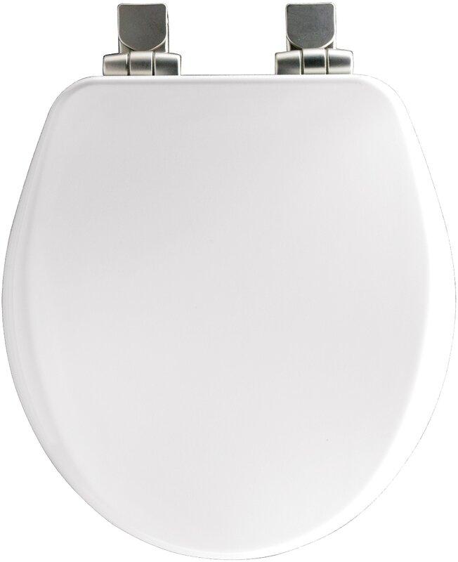 wooden white toilet seat. High Density Molded Wood Round Toilet Seat Bemis  Reviews Wayfair
