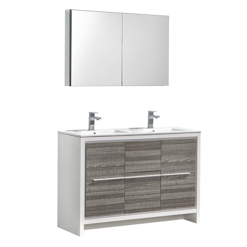 "Fresca Trieste Allier Rio 47"" Double Bathroom Vanity Set ..."