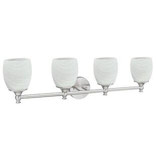 Charlton Home Huseby Bathroom Metal 4-Light Vanity Light