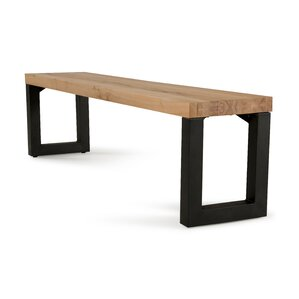 Jagan Metal and Wood Bench by Gracie Oaks