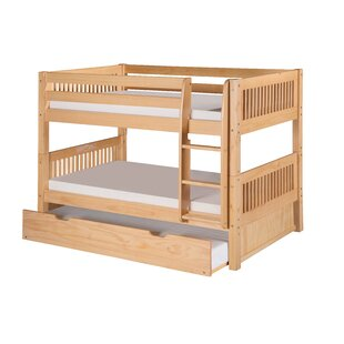 Oakwood Twin Bunk Bed with Trundle by Harriet Bee