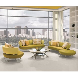 Best Choices Palomo 4 Piece Leather Living Room Set by Orren Ellis Reviews (2019) & Buyer's Guide