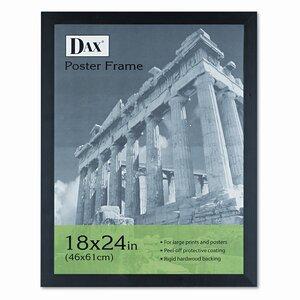 Dominque Black Plastic Poster Frame with Plexiglas Window, Wide Profile, 18 x 24