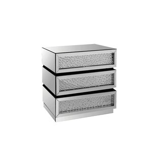 Rosdorf Park Bladwell Mirrored 3 Drawer Accent Chest