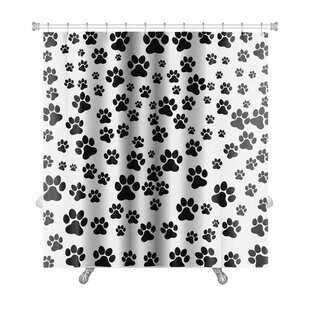 Cappa Dog Footprint Over Premium Single Shower Curtain