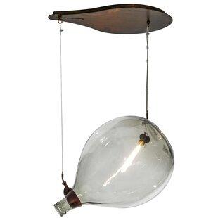 Meyda Tiffany Greenbriar Oak 1-Light Geometric Pendant