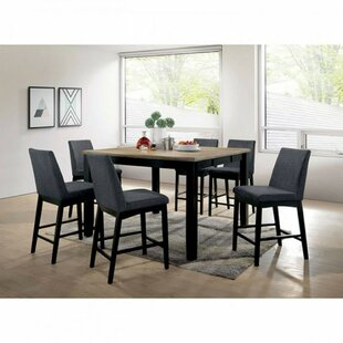Reiff Contemporary Counter Height Wire 7 Piece Pub Table Set Ebern Designs