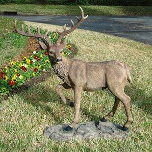 Design Toscano Grand-Scale Black Forest Garden Deer Statue