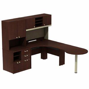 Bush Business Furniture Quantum Peninsula 3 Piece Desk Office Suite