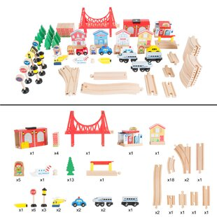 Hedin Train Kids 27 Piece Table and Chair Set by Zoomie Kids