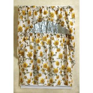 Yacine Sunflower Kitchen Curtain Set