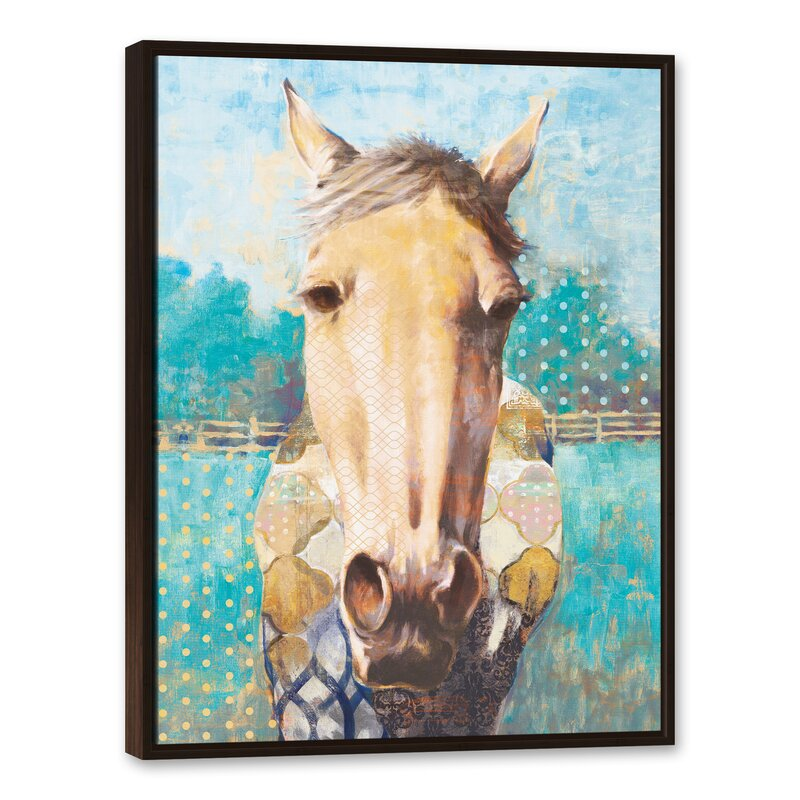 Gracie Oaks \'Abstract Horse\' Framed Acrylic Painting Print on Canvas ...