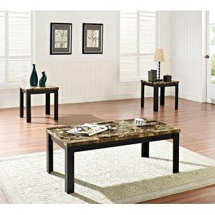 Marcelino 3 Piece Coffee Table Set by Fleur De Lis Living