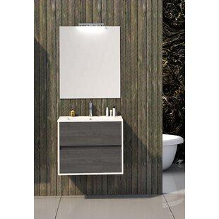 Dulaney Bathroom 600mm Wall Hung Single Vanity Unit By Ebern Designs