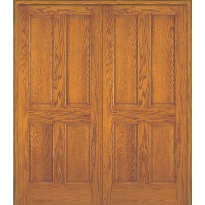 Merveilleux 4 Panel Double Solid Manufactured Wood Paneled MDF Prehung Interior Door
