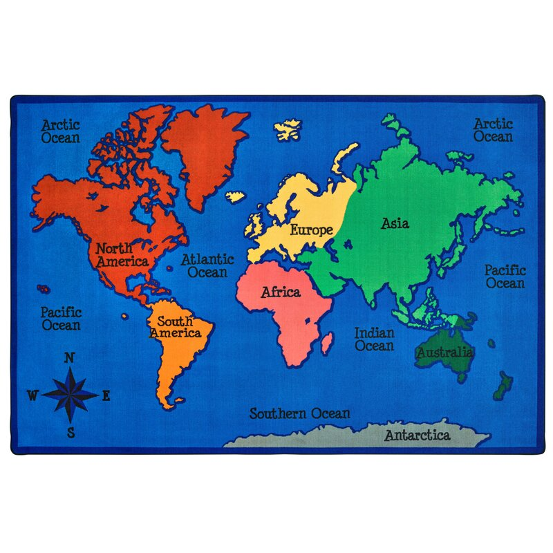 World Map For Kids Carpets for Kids Value Plus World Map Area Rug & Reviews | Wayfair