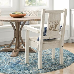 Abella Rustic Captain's Solid Wood Dining Chair