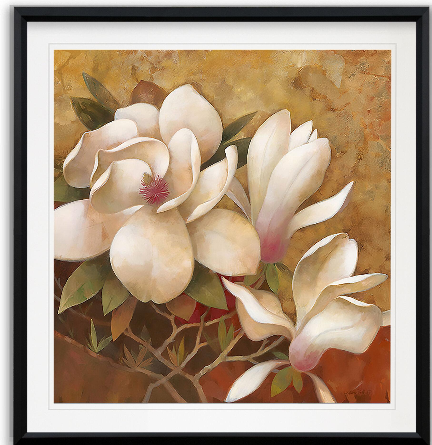 Framed Magnolia Wreath menu card
