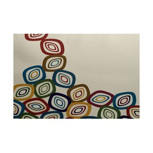 Cotner Falling Leaves Geometric Print Cream/Multi Indoor/Outdoor Area Rug