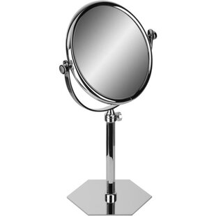Affordable Price Hundley Hexagonal Double-Sided Extendable Makeup/Shaving Mirror ByAlcott Hill