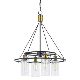 17 Stories Tisdall 4-Light Shaded Chandelier
