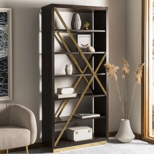 Read Reviews Leeson Oak Standard Bookcase by Brayden Studio