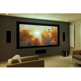 Elunevision Reference Studio AudioWeave 4K White Fixed Frame Projection Screen