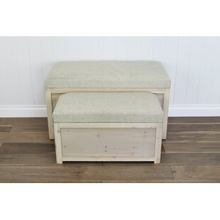 Fecteau 2 Piece Storage Bench Set