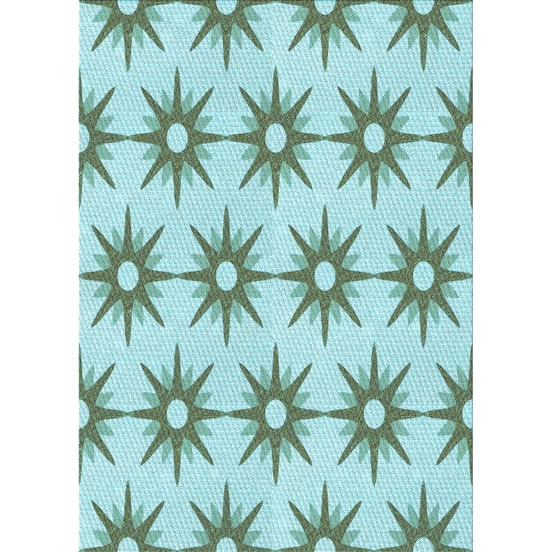 East Urban Home Enoch Wool Light Blue Area Rug Wayfair