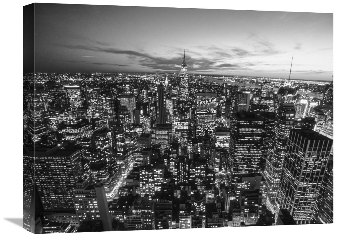 Global Gallery Manhattan Skyline With The Empire State Building New York City By Michel Setboun Photographic Print On Wrapped Canvas Wayfair
