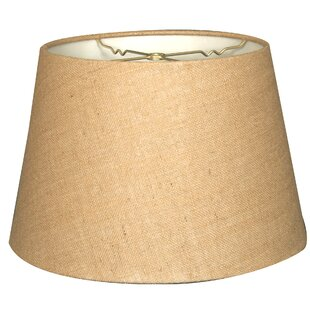 Tapered 14 Burlap Empire Lamp Shade