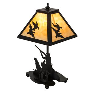 Duck Hunter with Dog 15.5 Table Lamp