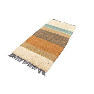 Gamelin Hand Hooked Wool Beige/Brown Indoor/Outdoor Rug By Bloomsbury Market