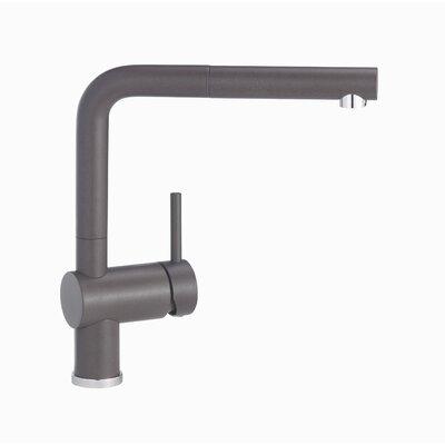Blanco Linus Pull Out Single Handle Kitchen Faucet Color: Café Brown