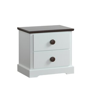 Erik 2 Drawer Bedside Table By Harriet Bee