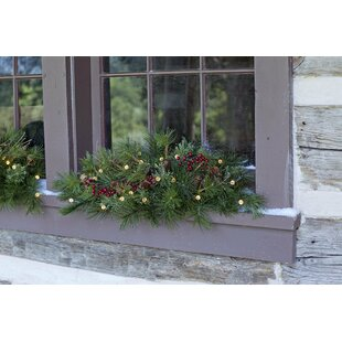 indooroutdoor ridge window swag - Window Sill Christmas Decorations